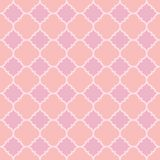 Pink barbed quatrefoil seamless vector pattern royalty free illustration