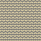 Geometric Seamless Vector Pattern. Geometric vector pattern with golden arrows. Seamless abstract background stock illustration