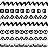 Geometric seamless vector pattern. Hand-drawn symbols and signs vector illustration