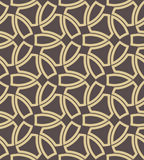 Geometric Seamless Vector Pattern. Seamless vector ornament. Modern background. Geometric pattern with repeating golden elements Royalty Free Stock Photos