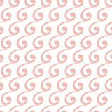 Geometric Seamless Vector Pattern. Seamless vector ornament. Modern background. Geometric pattern with repeating pink waves Royalty Free Stock Photos