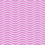 Geometric Seamless Vector Pattern. Seamless vector ornament. Modern background. Geometric pattern with repeating purple and white waves Royalty Free Stock Images
