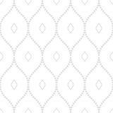 Geometric Seamless Vector Pattern. Seamless vector ornament. Modern background. Geometric pattern with repeating silver dotted wavy lines Royalty Free Stock Photo