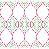 Geometric Seamless Vector Pattern. Seamless vector ornament. Modern geometric pattern with repeating dotted colorful elements Royalty Free Stock Images