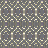 Geometric Seamless Vector Pattern. Seamless vector ornament. Modern geometric pattern with repeating dotted golden wavy lines Stock Photography