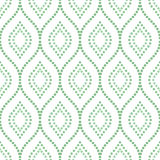 Geometric Seamless Vector Pattern. Seamless vector ornament. Modern stylish geometric pattern with repeating green doted waves Royalty Free Stock Photography