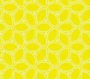 Geometric Seamless Vector Pattern. Seamless vector ornament with yellow lemons. Modern geometric pattern with repeating elements Royalty Free Stock Photography