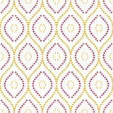 Geometric Seamless Vector Pattern. Seamless vector ornament. Modern dotted colored wavy background. Geometric modern pattern Stock Photography