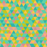 Geometric Seamless Vector Pattern. Geometric vector texture with colorful triangles. Seamless abstract background Stock Illustration
