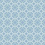 Geometric seamless vector pattern of white, green and blue circles and squares stock illustration
