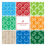 Geometric seamless vector set Royalty Free Stock Images