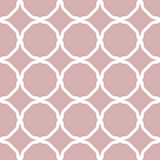 Geometric Seamless Vector White Pattern Stock Photography