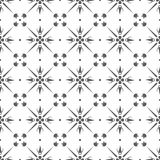Geometric seamless vintage pattern background with floral elemen Stock Photos