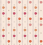 Geometric seamless vintage pattern background with floral elemen Royalty Free Stock Images