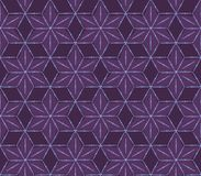 Geometric seamless violet flower pattern Royalty Free Stock Image