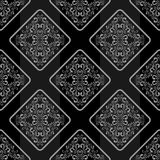 Geometric seamless Wallpaper with floral Ornament. Royalty Free Stock Photo