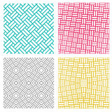 Geometric seamless weave line pattern in korean style. Vector Royalty Free Stock Photos
