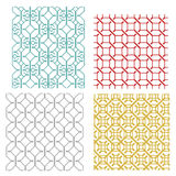 Geometric seamless weave line pattern Royalty Free Stock Images