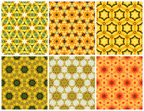 Geometric seamless yellow pattern. Set of Geometric seamless yellow pattern Royalty Free Stock Photography
