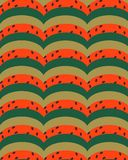 Geometric semicircles green red yellow with dark impregnations. vector illustration
