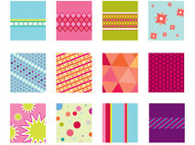 Geometric set of 12 folk patterns. Detailed  illustrations fully editable Royalty Free Stock Images