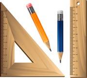 Geometric set over white Stock Photography