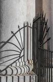 Geometric shadows on column Royalty Free Stock Photo