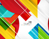 Geometric shape abstract business template Royalty Free Stock Photo