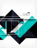 Geometric shape abstract business template Stock Images
