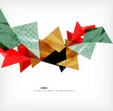Geometric shape abstract futuristic background Stock Photos