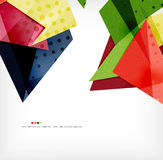 Geometric shape abstract futuristic background Stock Photography