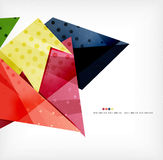 Geometric shape abstract futuristic background Stock Photo