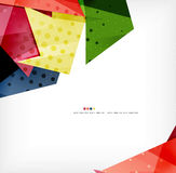 Geometric shape abstract futuristic background Stock Image