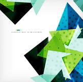 Geometric shape abstract futuristic background Stock Image