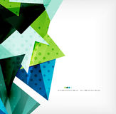 Geometric shape abstract futuristic background Stock Images
