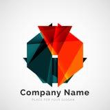Geometric shape, company logo Royalty Free Stock Images