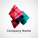 Geometric shape, company logo Royalty Free Stock Image