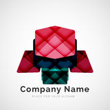 Geometric shape, company logo Stock Photography