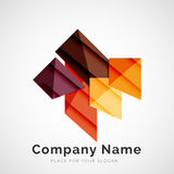 Geometric shape, company logo. Geometric shape icon, company logo design Royalty Free Stock Images