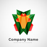 Geometric shape, company logo Royalty Free Stock Photos