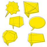 Geometric shape message bubbles sketch Stock Photos