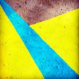 Geometric shape painted on the ground Royalty Free Stock Image