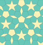 Geometric shape pentagon with rhombus and stars. Abstract vector EPS 10 illustration stock illustration