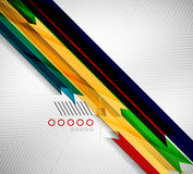 Geometric shape straight stripes background Stock Photography