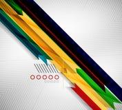 Geometric shape straight stripes background Stock Photography