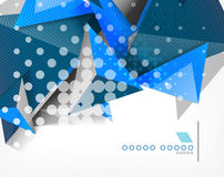 Geometric shape triangle abstract background Royalty Free Stock Photo