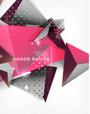 Geometric shape triangle abstract background Stock Photo