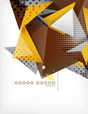 Geometric shape triangle abstract background Stock Image