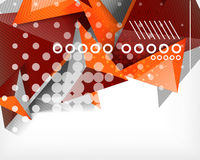 Geometric shape triangle abstract background Stock Photos