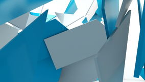 Geometric shape triangle motion background. Computer generated animation stock footage